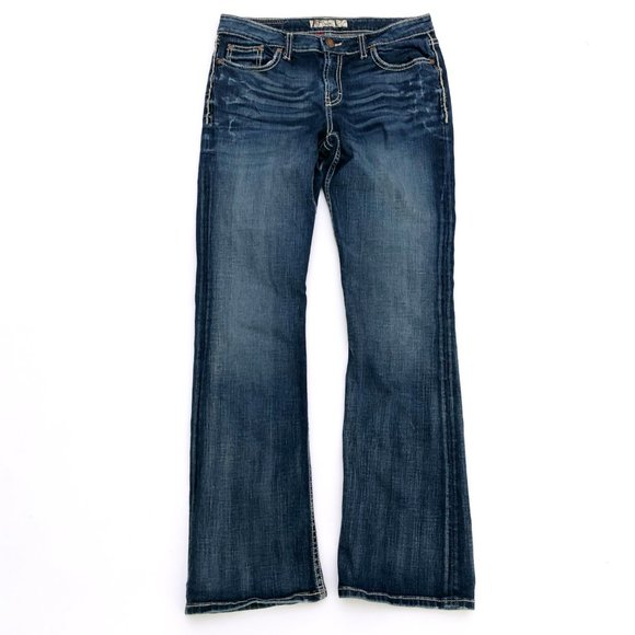 BKE Women's Kate Dark Wash Rhinestone Jeans 31x33